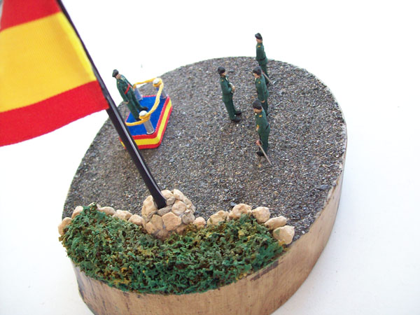 Diorama de Despacho de Guardia Civil